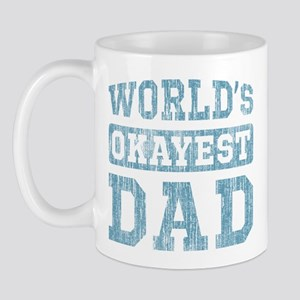World's Okayest Dad [v. blue] Mug